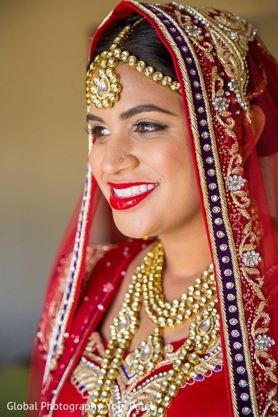 Bridal Portrait in Irvine, CA Indian Wedding by Global Photography
