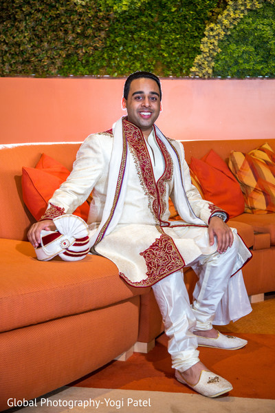 Groom Portrait in Irvine, CA Indian Wedding by Global Photography