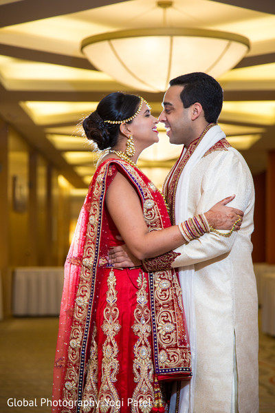 First Look in Irvine, CA Indian Wedding by Global Photography