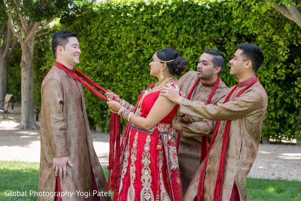 Groomsmen in Irvine, CA Indian Wedding by Global Photography