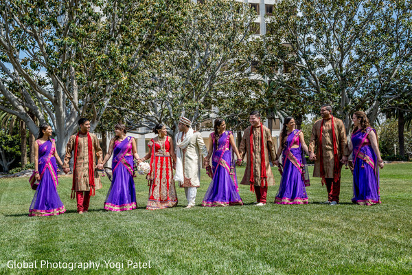 Wedding Party in Irvine, CA Indian Wedding by Global Photography