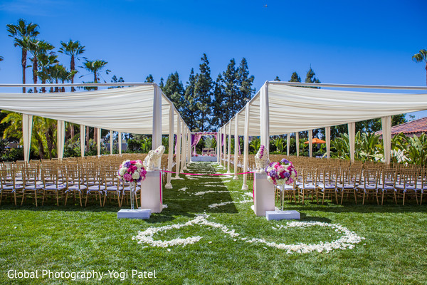 Ceremony Decor in Irvine, CA Indian Wedding by Global Photography
