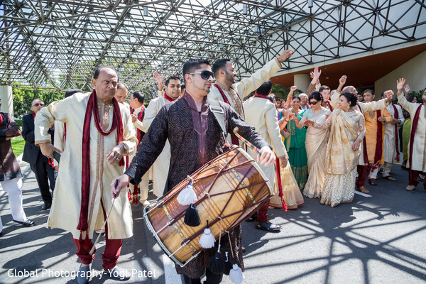 Baraat in Irvine, CA Indian Wedding by Global Photography
