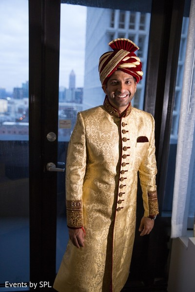Groom Fashion in Atlanta, GA Indian Wedding by Events by SPL