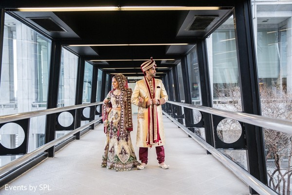 First Look in Atlanta, GA Indian Wedding by Events by SPL
