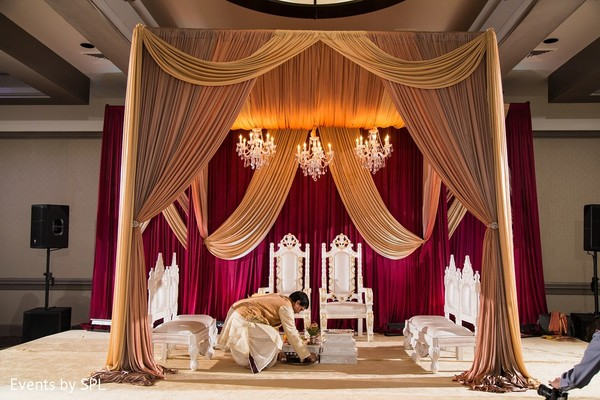 Mandap in Atlanta, GA Indian Wedding by Events by SPL