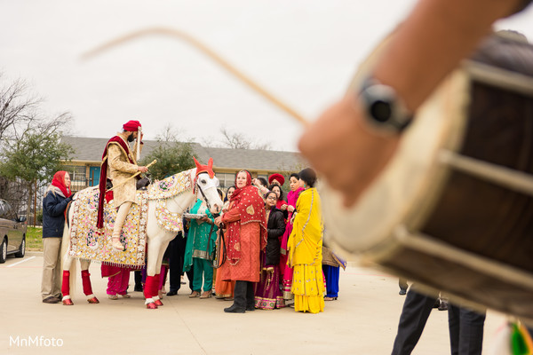 Baraat in Garland, TX Indian Wedding by MnMfoto Wedding Photography
