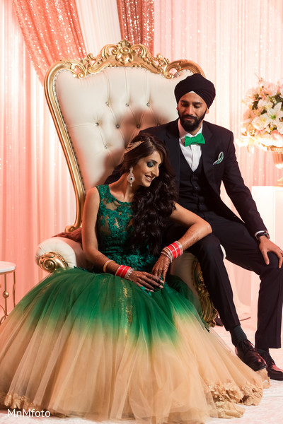 Indian reception portrait in Garland, TX Indian Wedding by MnMfoto Wedding Photography