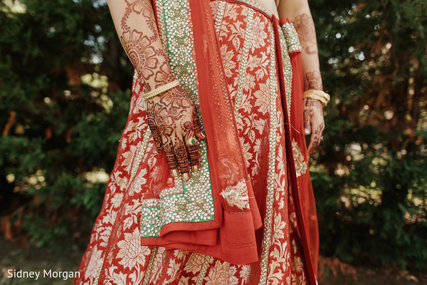 Lengha Details in Staten Island, NY Indian Fusion Wedding by Sidney Morgan Photography
