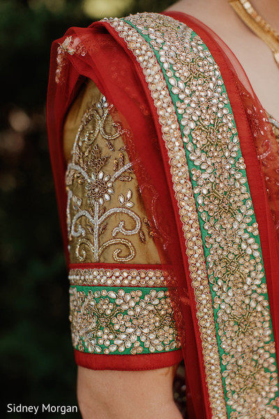 Bridal Fashion Details in Staten Island, NY Indian Fusion Wedding by Sidney Morgan Photography