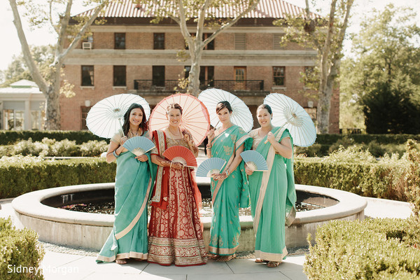 Bridal Party in Staten Island, NY Indian Fusion Wedding by Sidney Morgan Photography