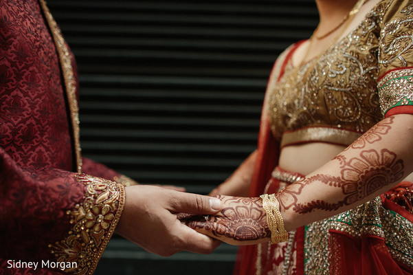 First Look in Staten Island, NY Indian Fusion Wedding by Sidney Morgan Photography