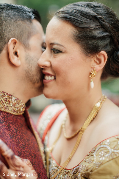 fusion wedding,fusion indian wedding,first look,first look portraits,updo