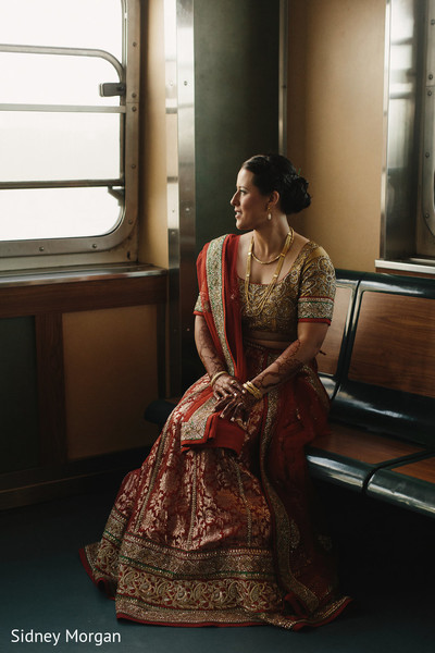 Bridal Portrait in Staten Island, NY Indian Fusion Wedding by Sidney Morgan Photography
