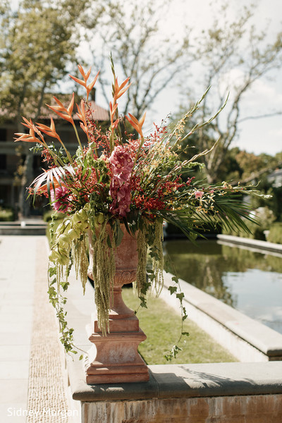 Ceremony Decor in Staten Island, NY Indian Fusion Wedding by Sidney Morgan Photography