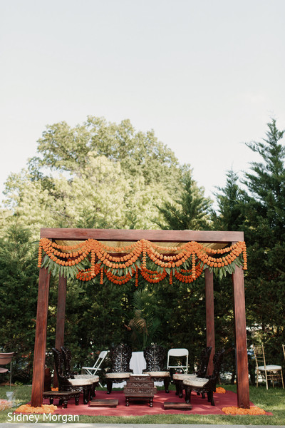 Mandap in Staten Island, NY Indian Fusion Wedding by Sidney Morgan Photography