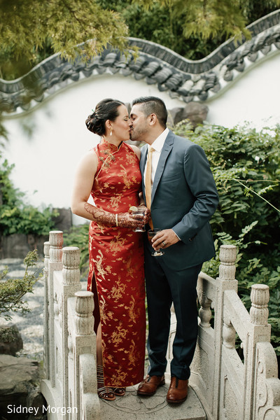 Reception Portrait in Staten Island, NY Indian Fusion Wedding by Sidney Morgan Photography