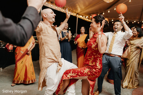 Reception in Staten Island, NY Indian Fusion Wedding by Sidney Morgan Photography