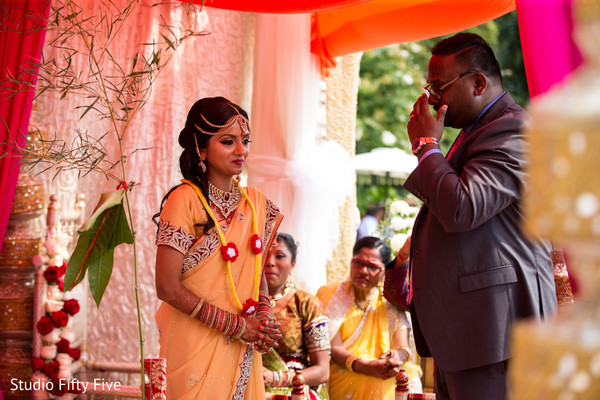 Ceremony in Calverton, NY Indian Wedding by Studio Fifty Five