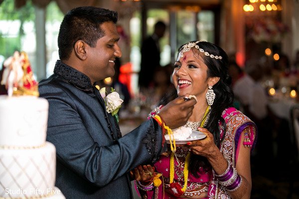 Reception in Calverton, NY Indian Wedding by Studio Fifty Five
