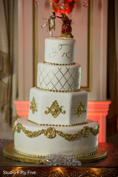 Indian wedding cake in Calverton, NY Indian Wedding by Studio Fifty Five