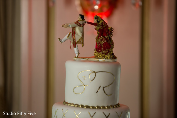 Cake topper in Calverton, NY Indian Wedding by Studio Fifty Five