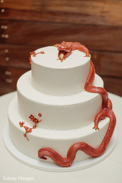 Wedding Cake in Staten Island, NY Indian Fusion Wedding by Sidney Morgan Photography