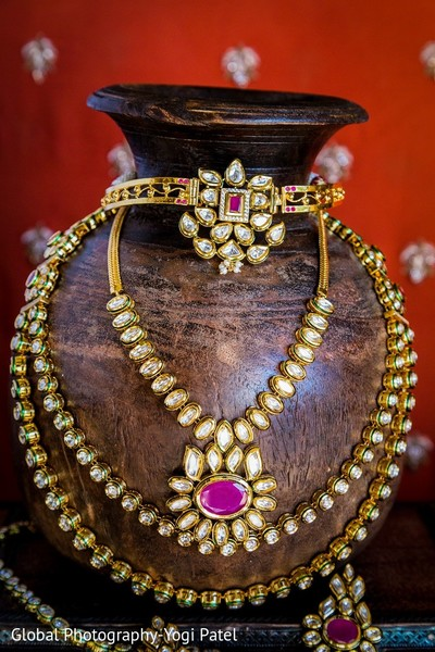 Bridal Jewelry in Scottsdale, AZ Indian Wedding by Global Photography