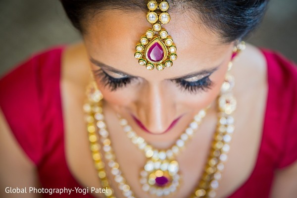Bridal Jewelry & Makeup in Scottsdale, AZ Indian Wedding by Global Photography