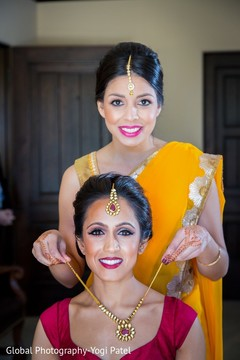 getting ready,indian bride getting ready,necklace