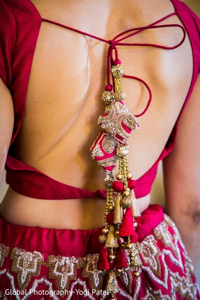 Lengha Details in Scottsdale, AZ Indian Wedding by Global Photography