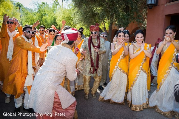 Baraat in Scottsdale, AZ Indian Wedding by Global Photography