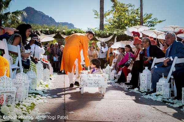 Ceremony in Scottsdale, AZ Indian Wedding by Global Photography
