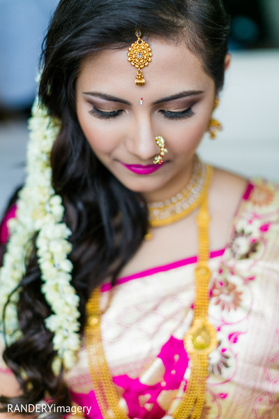Bridal Portrait in Long Beach, CA Indian Wedding by RANDERYimagery