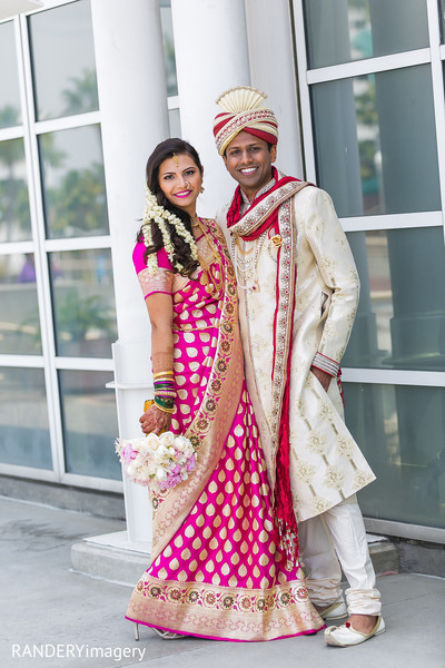 First Look in Long Beach, CA Indian Wedding by RANDERYimagery