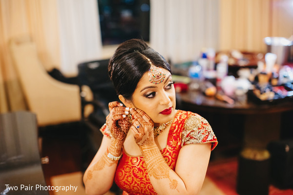 Getting ready in Dallas, TX Indian Wedding by Two Pair Photography
