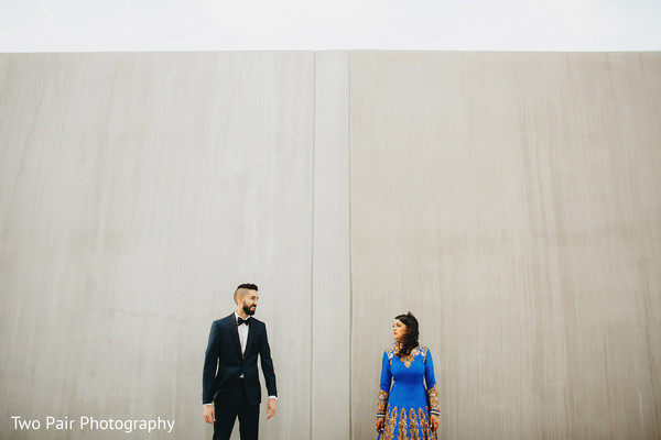 Reception portraits in Dallas, TX Indian Wedding by Two Pair Photography
