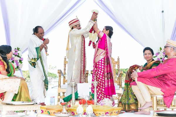 Ceremony in Long Beach, CA Indian Wedding by RANDERYimagery