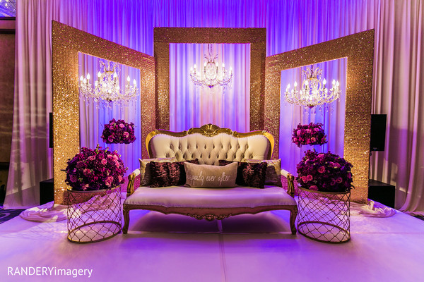 reception decor,floral and decor,sweetheart stage,lighting