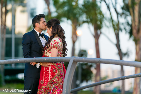 Reception Portrait in Long Beach, CA Indian Wedding by RANDERYimagery
