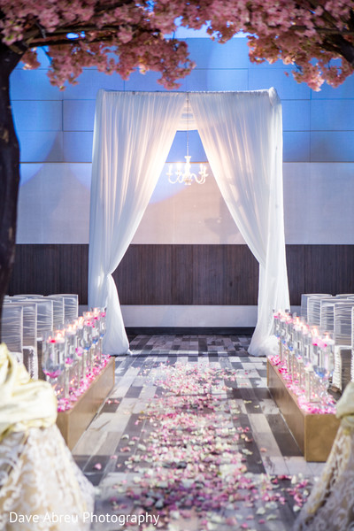 Ceremony decor in Ontario, CA Indian Wedding by Dave Abreu Photography
