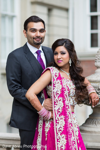Reception portraits in Ontario, CA Indian Wedding by Dave Abreu Photography