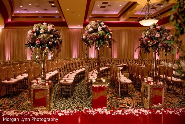 Ceremony Decor in Tulsa, OK Indian Wedding by Morgan Lynn Photography