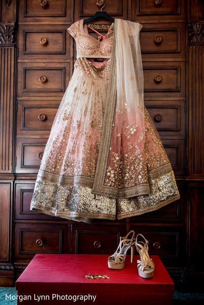 Reception Lengha in Tulsa, OK Indian Wedding by Morgan Lynn Photography