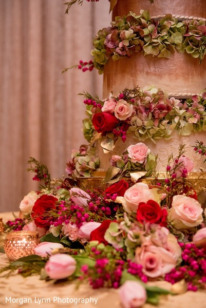 Cake Details in Tulsa, OK Indian Wedding by Morgan Lynn Photography