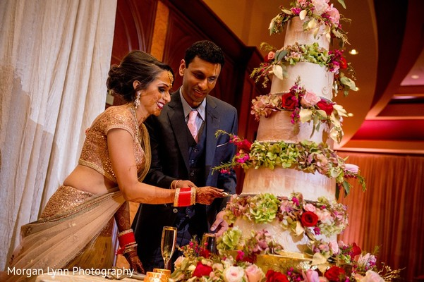 reception,indian wedding reception,cake cutting