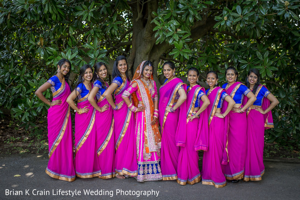 Bridal Party in Memphis, TN Indian Wedding by Brian K Crain Lifestyle Wedding Photography