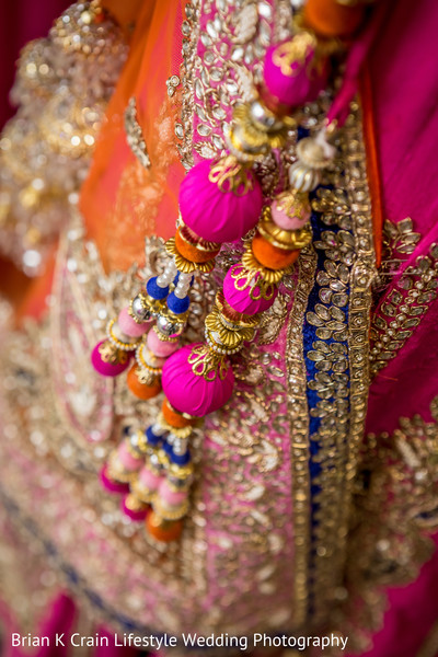 Lengha Details in Memphis, TN Indian Wedding by Brian K Crain Lifestyle Wedding Photography