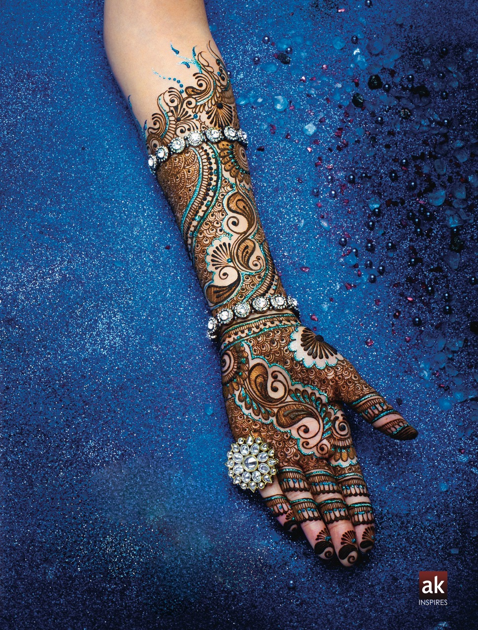 Indian Wedding Mehndi Jewel Tone