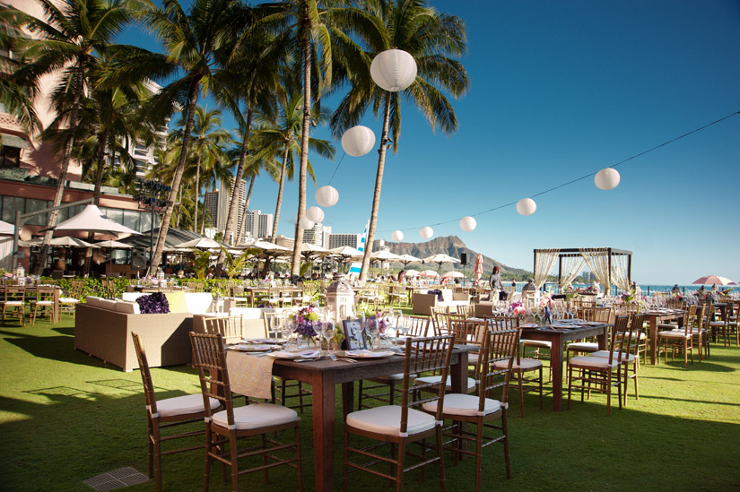 Modern Indian Wedding Tablescape at the Royal Hawaiian
